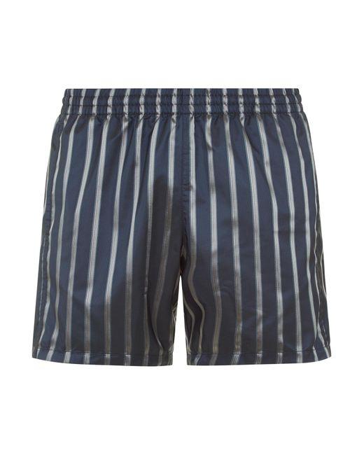 La Perla | Blue Striped Swim Shorts In Jacquard Technical Fabric for Men | Lyst