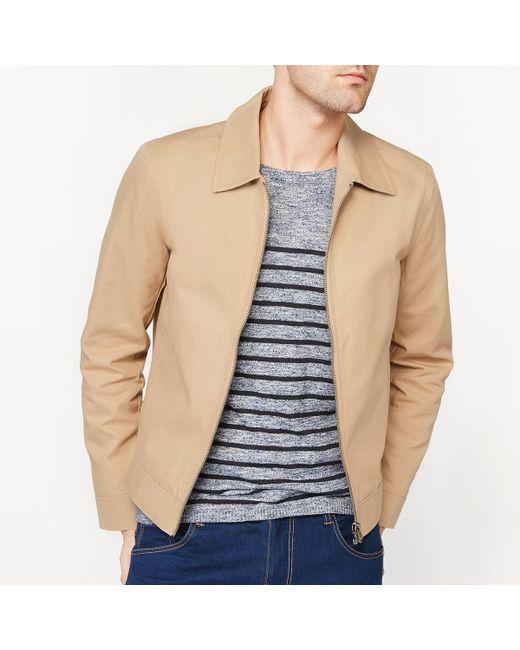 LA REDOUTE | Natural 100% Cotton Short Jacket for Men | Lyst