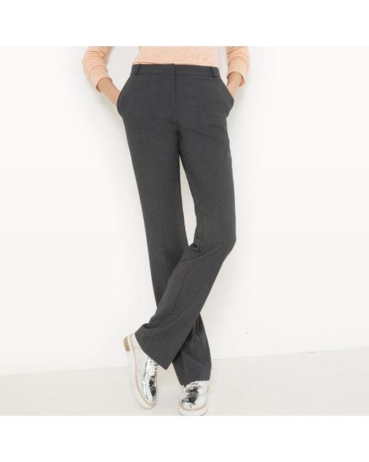LA REDOUTE | Gray Straight 32-inch Leg Trousers | Lyst