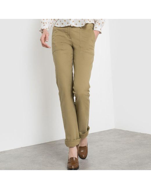 LA REDOUTE | Natural Cargo Trousers, Regular Waist | Lyst