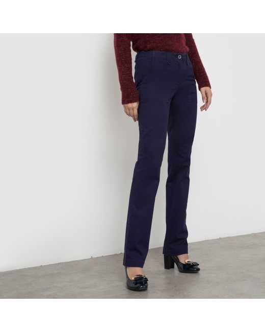 LA REDOUTE | Blue Cargo Trousers, Regular Waist | Lyst