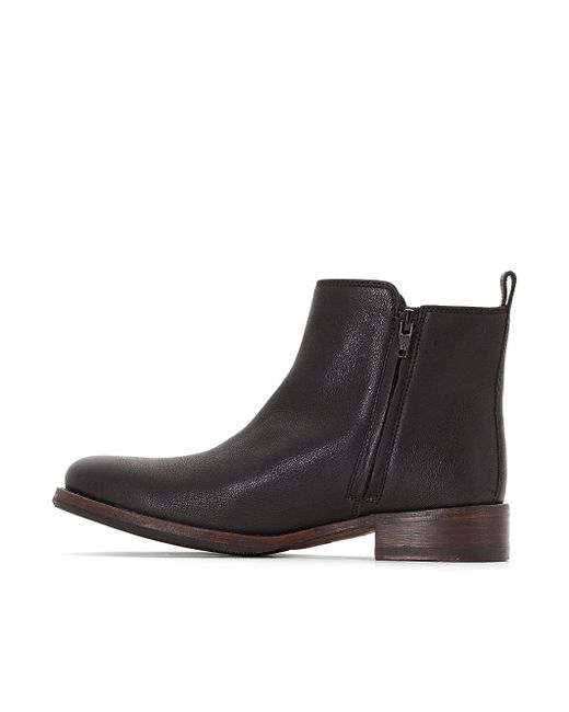clarks tomina leather ankle boots in black lyst