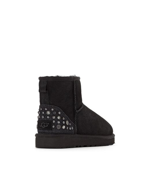 UGG Mini Studded Bling Leather Ankle Boots with Sheepskin Lining outlet locations cheap price outlet discount clearance visit many kinds of sale online 2zB8pRaey8