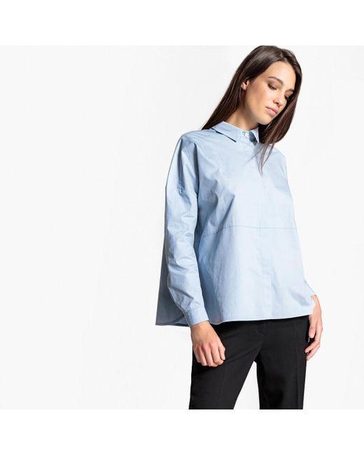 LA REDOUTE | Blue Poplin Shirt | Lyst