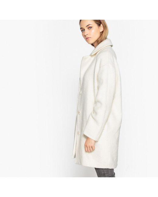 LA REDOUTE | White Oversized Wool Blend Coat | Lyst