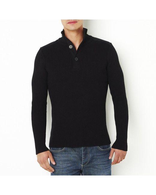 LA REDOUTE - Black Standard Cotton Jumper/sweater for Men - Lyst
