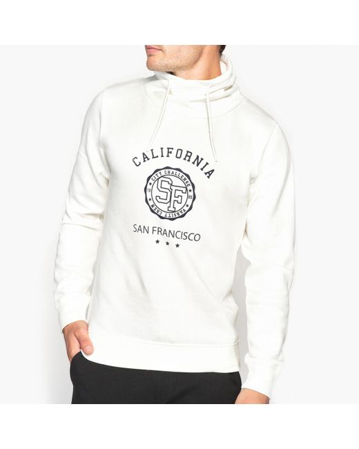 LA REDOUTE | White High Neck Hoodie for Men | Lyst