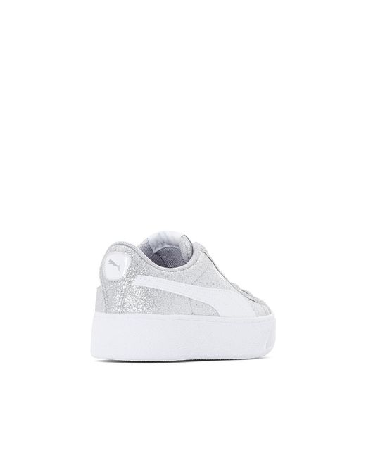 ... PUMA - White Vikky Platform Glitz Wedge Trainers for Men - Lyst ... 763656930