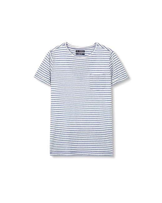 Esprit | Blue Striped Crew Neck T-shirt for Men | Lyst