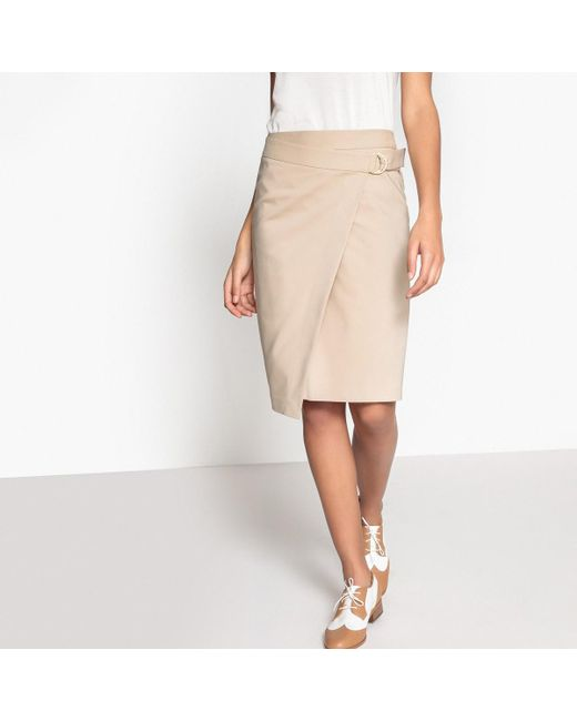 LA REDOUTE - Natural Wrap Skirt With Belt - Lyst