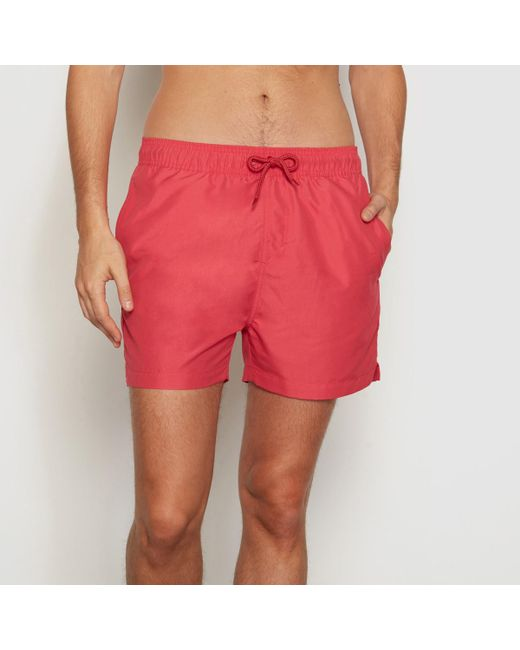 LA REDOUTE   Red Boxer-style Swim Shorts for Men   Lyst