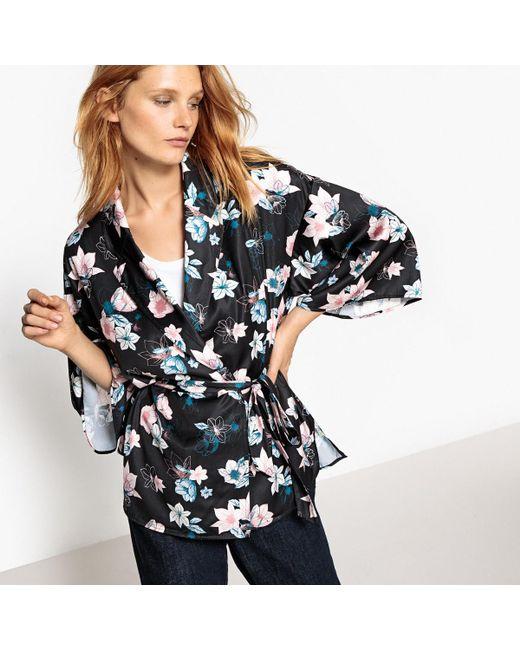 LA REDOUTE   Multicolor Kimono Shirt With Tailored Collar   Lyst