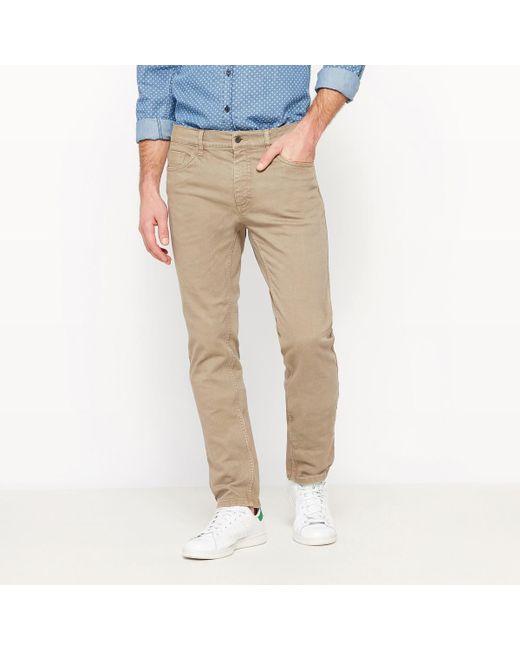 LA REDOUTE | Natural Slim Fit Jeans for Men | Lyst
