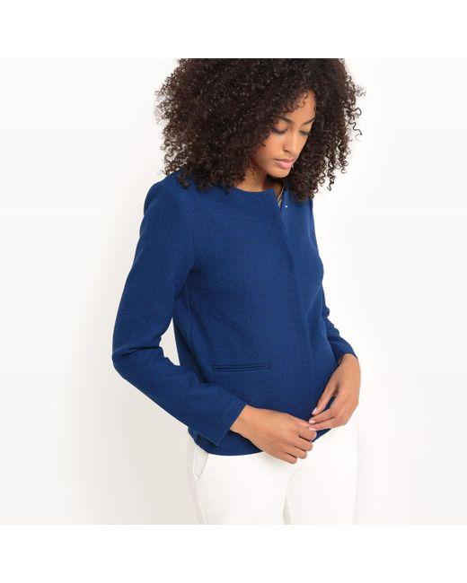 LA REDOUTE | Blue Short Boxy Cut Jacket | Lyst