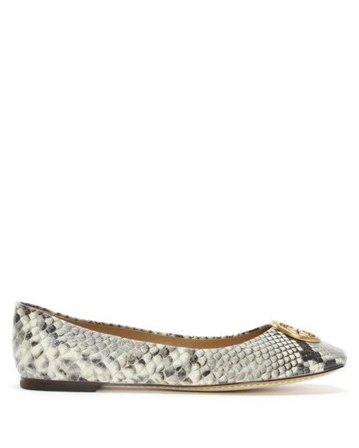 cb9abcc2790 Tory Burch - Multicolor Chelsea Snake Print Leather Ballet Flats - Lyst ...