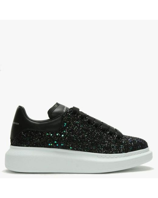 Alexander McQueen Green Glitter Lace Up Sporty Trainers in Green ... 2a70d530ba