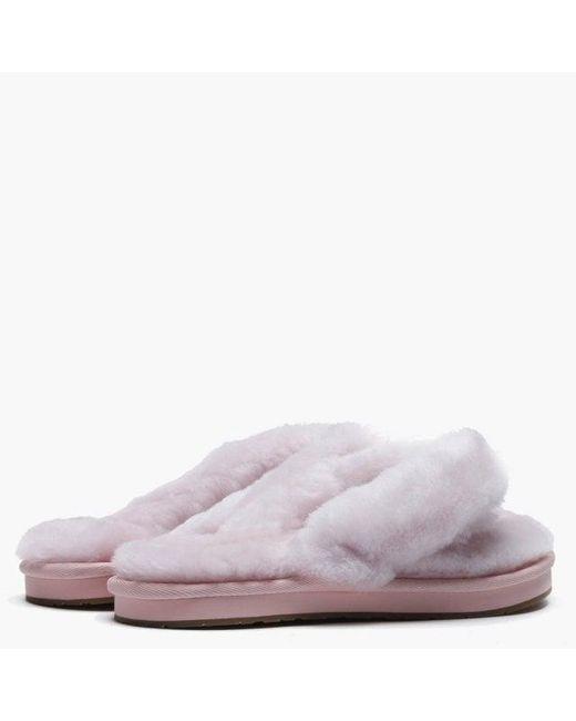 c2465b5ff Lyst - UGG Women s Fluff Ii Seashell Pink Flip Flop Slippers in Pink