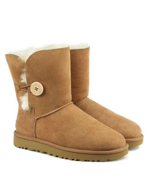 d286d126f25 UGG Bailey Button Ii Chestnut Twinface Boot in Brown - Save 44% - Lyst