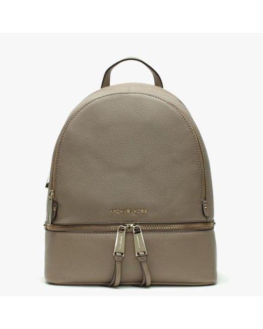 1a8e5774eb57 Michael Kors - Multicolor Rhea Truffle Leather Zip Fastening Backpack - Lyst  ...