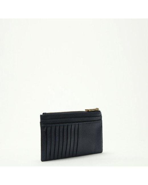 f717859b47b07 ... Michael Kors - Blue Large Slim Admiral Leather Card Case - Lyst ...