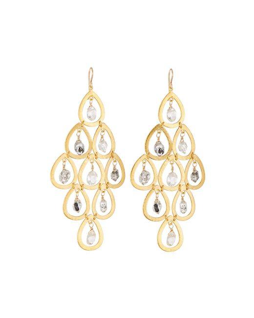 Devon Leigh | Metallic Quartz & Moonstone Chandelier Earrings | Lyst