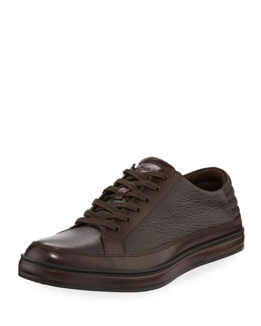 Kenneth Cole | Brown Brand Prize Lace-up Sneaker for Men | Lyst