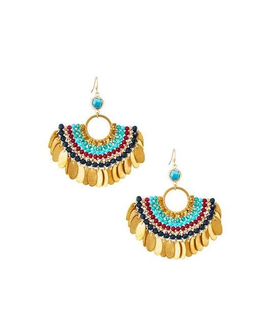 Nakamol - Multicolor Beaded Half-circle Earrings - Lyst