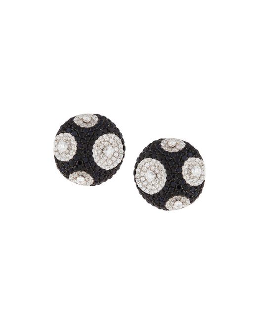 Roberto Coin - Multicolor 18k Meteorite Diamond & Sapphire Stud Earrings - Lyst