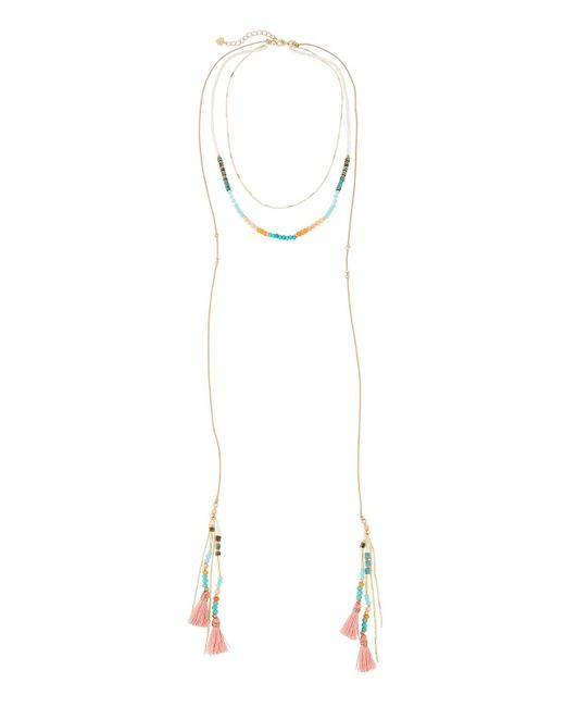 Nakamol | Multicolor Long Beaded Layered Lariat Necklace | Lyst