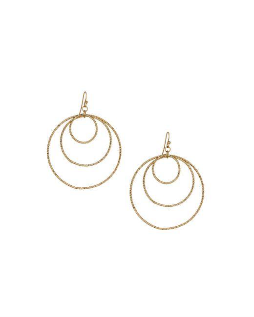 Panacea   Metallic Golden Orbital Hoop Drop Earrings   Lyst