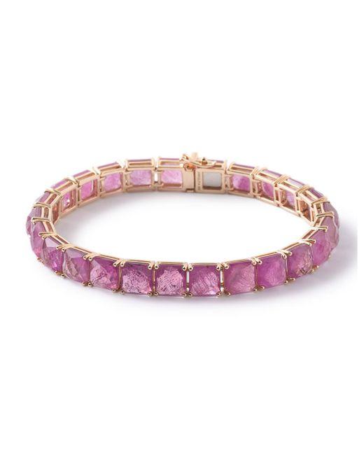 Ippolita   Red 18k Rock Candy Tennis Bracelet In Composite-ruby Doublet   Lyst