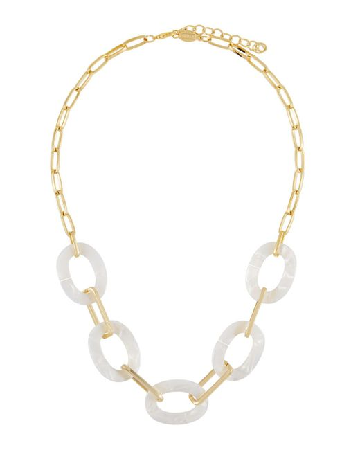 A.V. Max - White Short Pearly Lucite® Link Necklace - Lyst