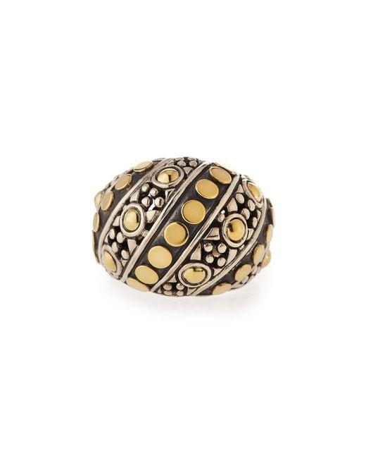 John Hardy - Metallic Jaisalmer Dot Twisted Oval Ring - Lyst