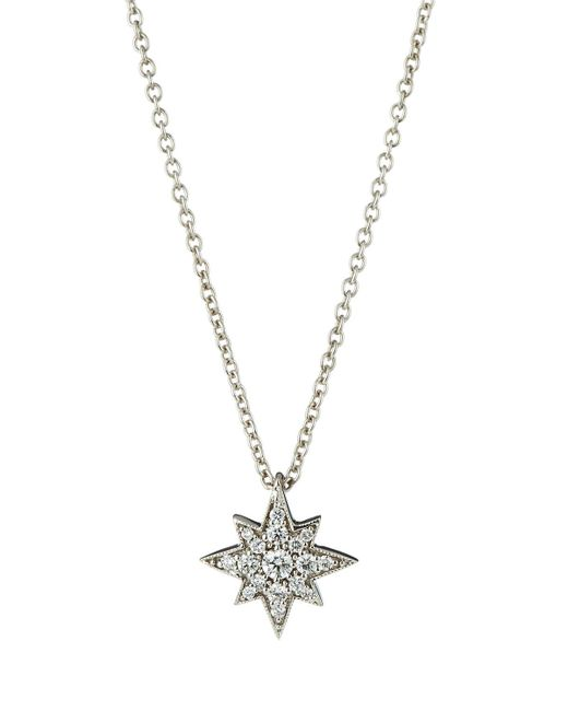 Penny Preville | Metallic 18k Small Diamond Starburst Pendant Necklace | Lyst
