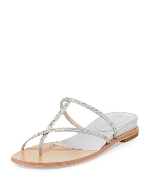 Pelle Moda - Multicolor Neka Embellished Flat Slide Sandals - Lyst