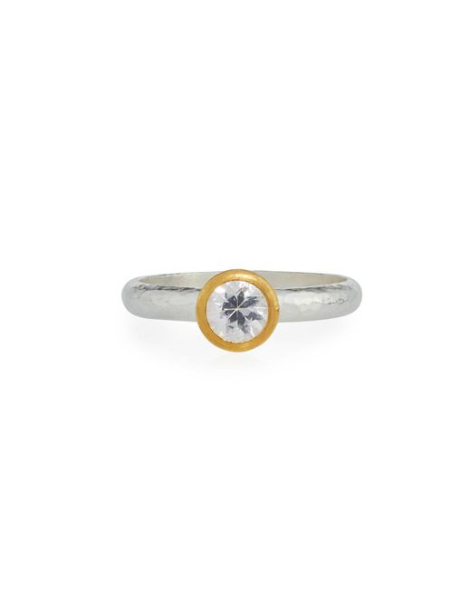 Gurhan - Delicate Skittle Ring With Bezel-set White Sapphire - Lyst