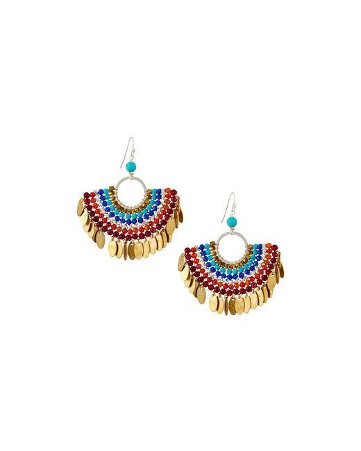 Nakamol - Multicolor Bead Layered Half-circle Earrings - Lyst