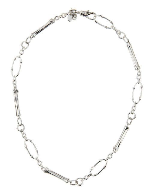 John Hardy - White Bamboo Twisted Chain Necklace - Lyst