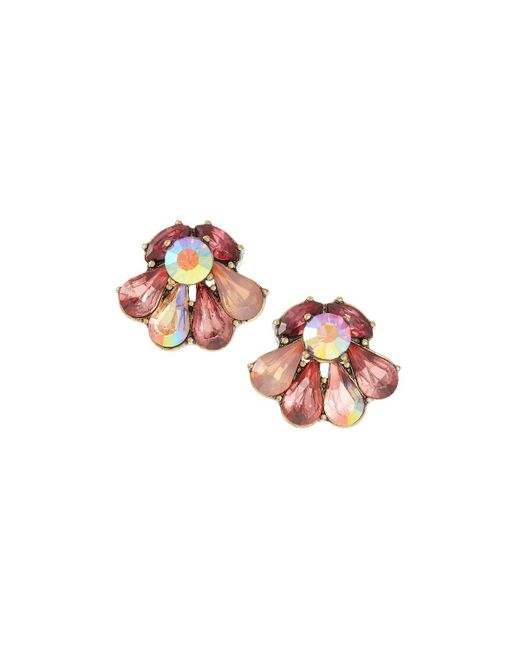 Lydell NYC - Pink Multi-stone Stud Earrings - Lyst
