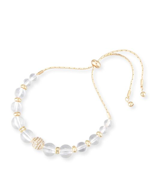 Fragments - Metallic Lucite® & Crystal Pull-tie Bracelet - Lyst