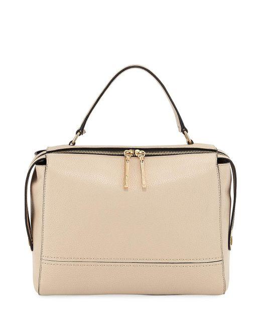MILLY - Black Astor Large Leather Satchel Bag - Lyst