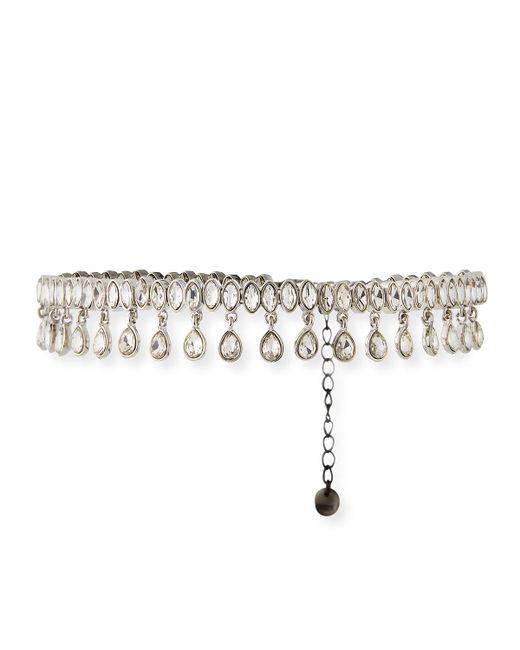 Lydell NYC - Metallic Cubic Zirconia Collar Teardrop Necklace - Lyst