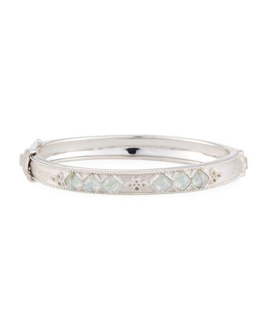 Jude Frances - Metallic Moroccan Sterling Silver Hinge Bracelet With Labradorite/quartz Doublets - Lyst