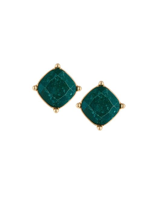 Lydell NYC - Green Crackle Stud Earrings - Lyst