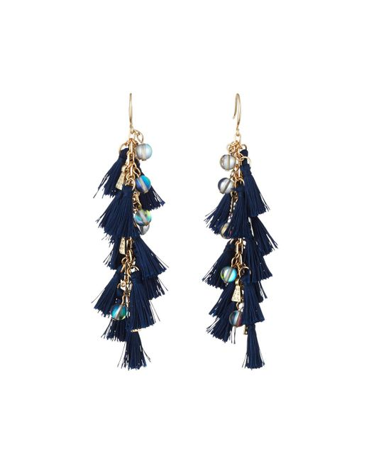 Lydell Nyc Tassel & Bead Linear Drop Earrings LZDGdv