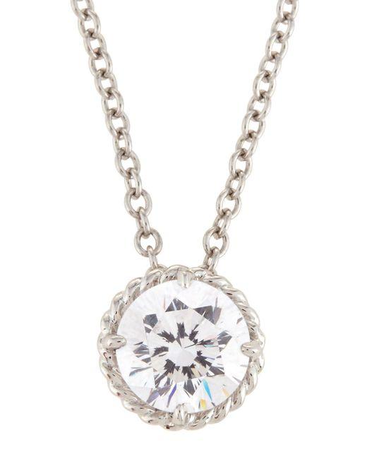 Fantasia by Deserio - Metallic White Cz Crystal Pendant Necklace - Lyst