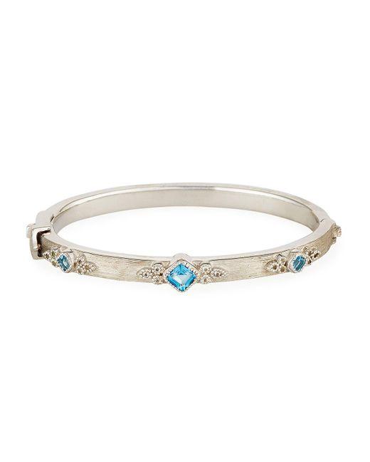 Jude Frances | Metallic Encore Sterling Silver Swiss Blue Topaz Bracelet | Lyst