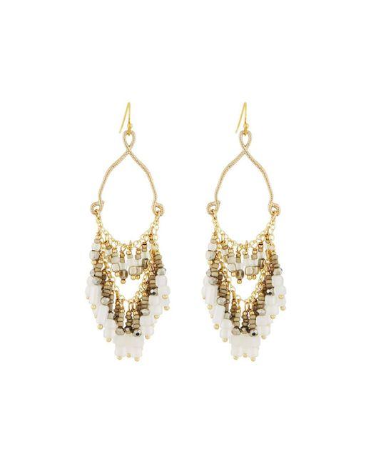 Nakamol   Metallic Teardrop Earrings W/ Beaded Fringe   Lyst