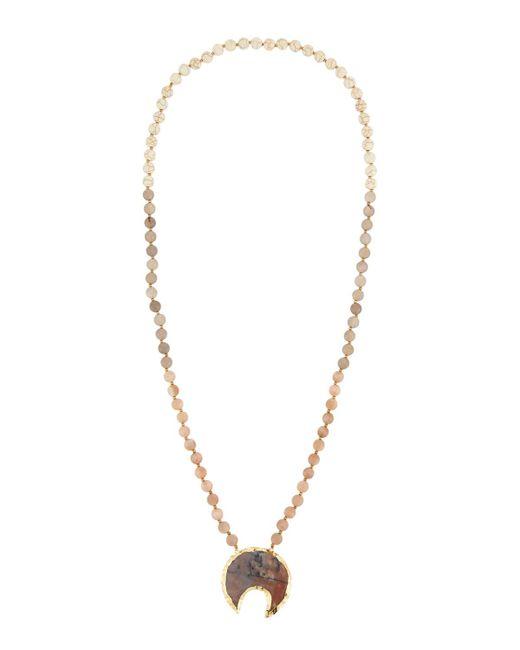 Panacea - Metallic Mixed-stone Horn Pendant Necklace - Lyst