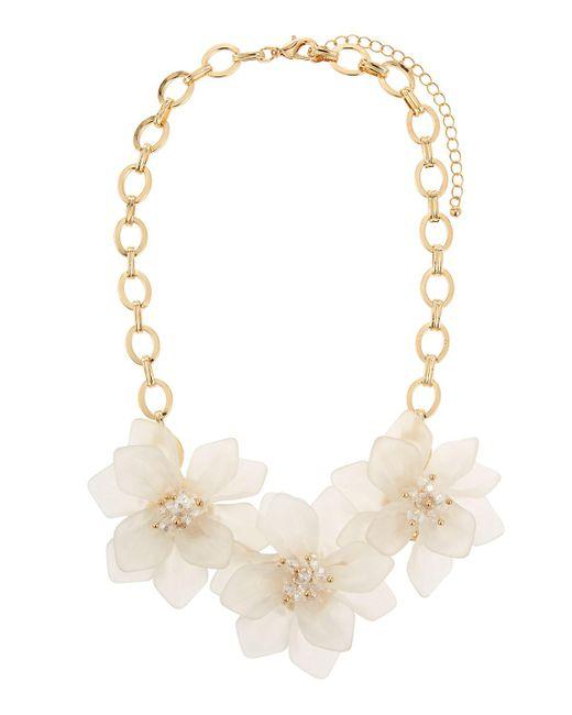 Fragments - Metallic Flower Statement Necklace for Men - Lyst